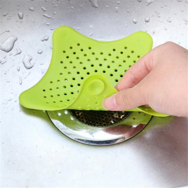 Silicone Kitchen Sink Filter Sewer Drain Hair Colanders Strainers Filter Bathroom Kitchen Sink Home Cleaning Tool    1PK