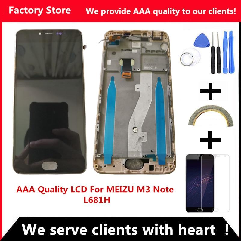imágenes para QYQYJOY AAA Calidad LCD + Frame Para MEIZU M3 M3 Nota L681H Lcd de Repuesto de Pantalla Para MEIZU Nota L681H Digiziter Aseembly