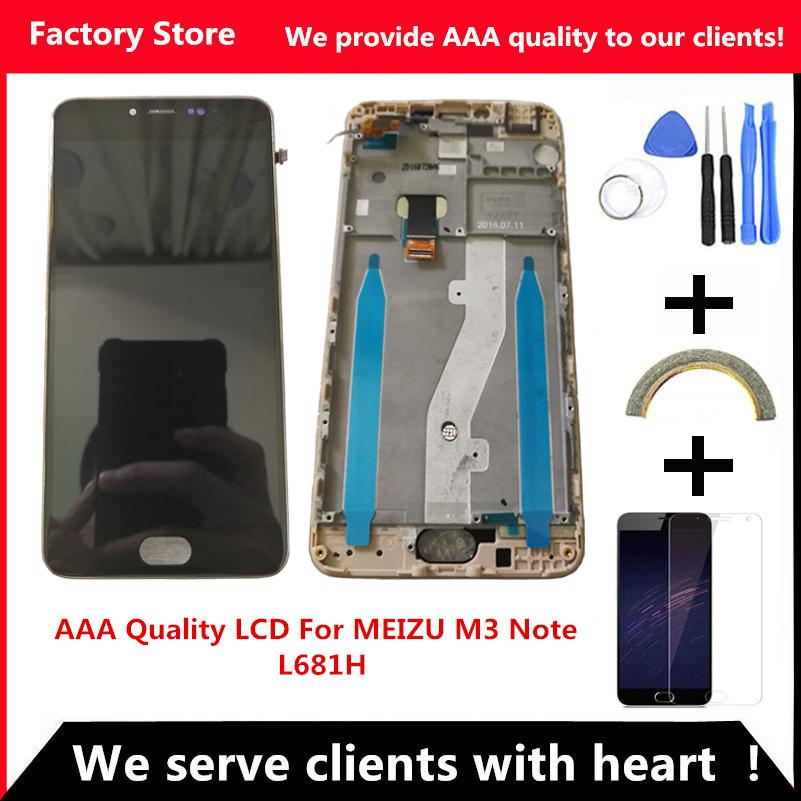 Prix pour Qyqyjoy aaa qualité lcd + cadre pour meizu m3 note l681h lcd écran remplacement pour meizu m3 note l681h digiziter aseembly