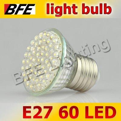 4pcs/Lot E27 60 LED Warm/Cold White Light Bulbs Bright Free Shipping Downlight Drop Ship