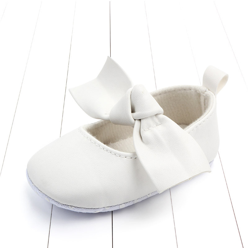 PU Leather Baby First Walkers Shoes Bow Soft Soled Anti-slip Footwear Crib Baby Girl Shoes Infant Toddler Best Gifts for Newborn (9)
