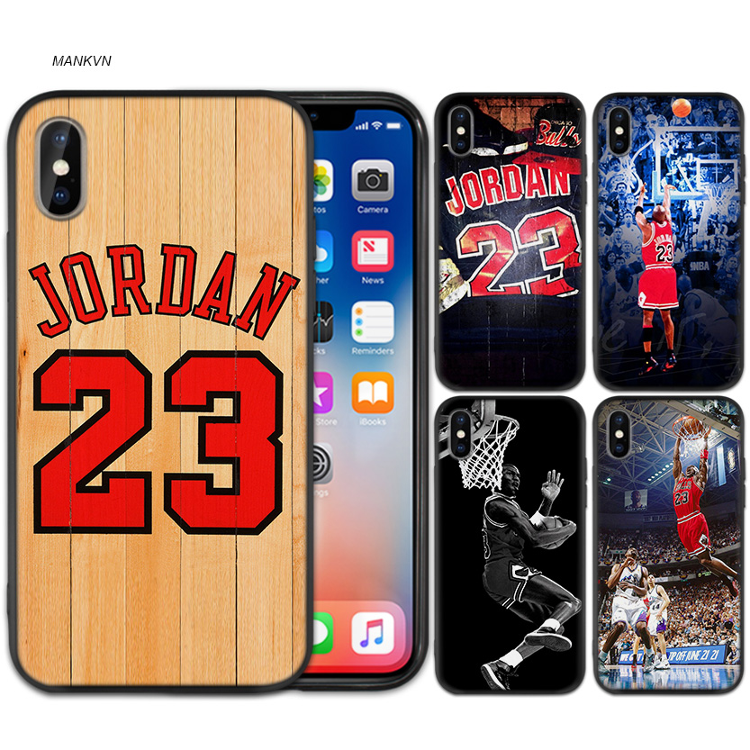 843342c5c7f Cover for iPhone XS Max X XR 6 6 s 7 8 Plus 5 SE 5S Forever Legend Michael  Jordan