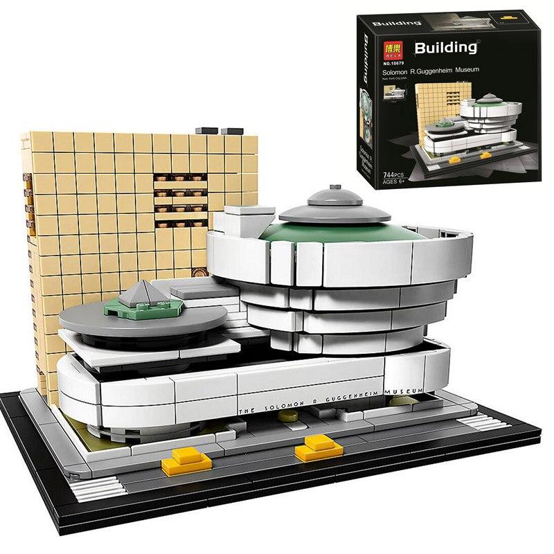 Bela 10679 Architecture Building Set Solomon R. Guggenheim Museum 21035 Model Building Block 744pcs Bricks Toys Children Gift architecture today