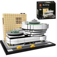 Bela 10679 Architecture Building Set Solomon R Guggenheim Museum 21035 Model Building Block 744pcs Bricks Toys