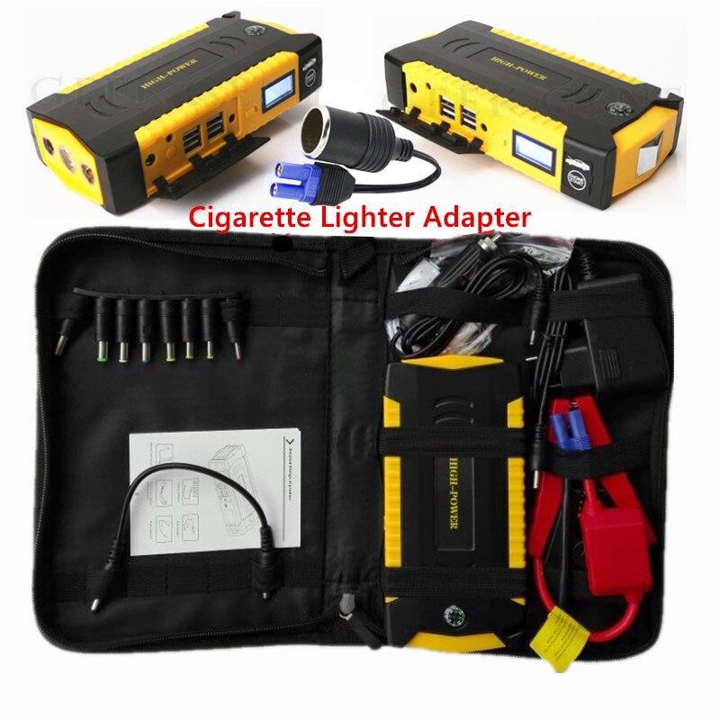 Emergencia 16000 mAh dispositivo de arranque Car cargador de batería 600A batería portátil arranque 12 V cargador para batería de refuerzo coche Buster