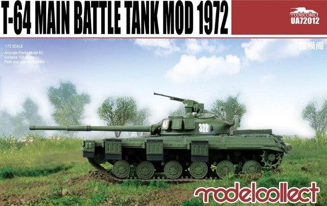 Modelcollect 1/72 escala modelos # UA72012 T-64 tanque de guerra militar 1972 kit modelo de plástico