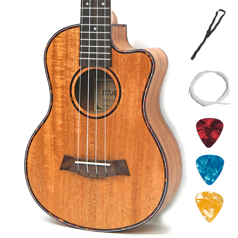 Tenor Concert Acoustic Electric Ukulele 23 26 Inch Travel Guitar 4 Strings Guitarra Wood Mahogany Plug-in Music Instrument soprano concert acoustic electric ukulele 21 23 inch guitar 4 strings ukelele guitarra handcraft guitarist mahogany plug in uke