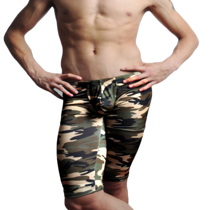Camouflage Mens Cargo Pants Fashion Sexy Camouflage Dress Camouflage Male Middle Pants Elastic Waist Design  M02-2