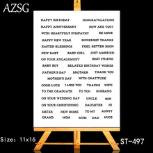 AZSG Various Festival Blessings Clear Stamps/Seals For DIY Scrapbooking/Card Making/Album Decorative Silicone Stamp Crafts