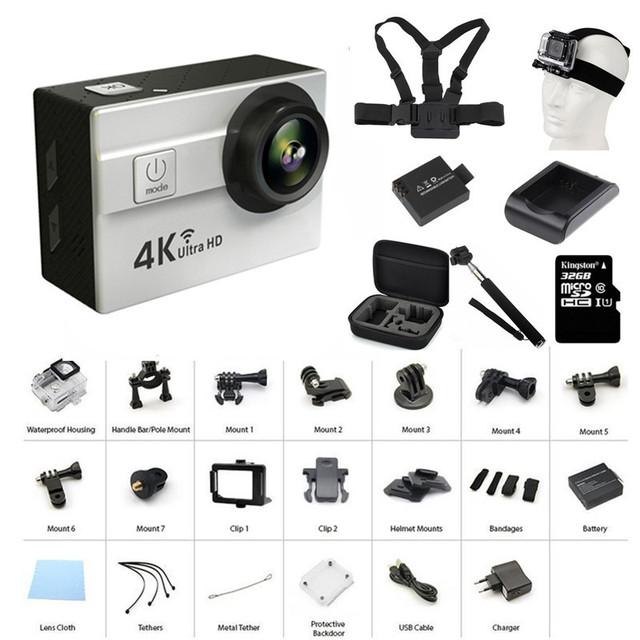 Ir 2017 Câmera de Ação À Prova D' Água Pro Wi-fi 2.0 LTPS Mini LED Cam Câmera De Ação de Mergulho Marinho 4 K HD DVRs Carro Gravador Q5H