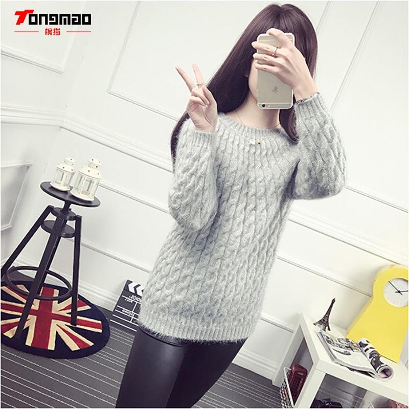 Modni casual jednobojni pleteni džemper s dnom dasaka Hidpokampus - Ženska odjeća - Foto 5