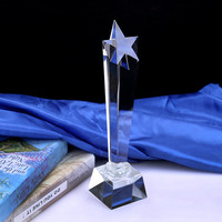 Pentagram Star Shape Crystal Trophy Glass Honor Medals Sports Events Awards Personalized Competition Souvenir Match Champion