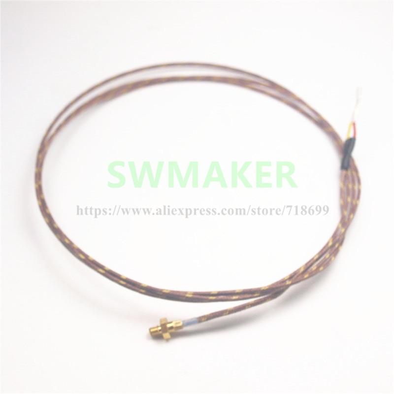 M3 screw Thermocouple (K Type) For Rplicator 3D Printer type K Thermocouple Temperature Sensor Rep 2/2X 1100 mm cable 100 85cm wre 230 e type fabricated thermocouple industrial temperature sensor with screw