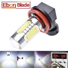 2 x H11 H8 H16 LED Car Fog Bulbs High Power COB 7.5W Cars Daytime Running Light DRL Lamp White Yellow Amber Orange Ice Blue 12V
