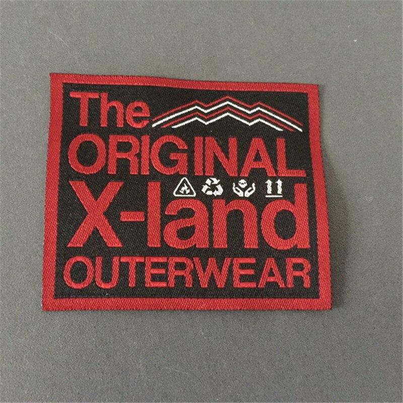 d2a51c83e8fb ᗛPoliéster personalizado etiquetas tejidas para Outwear - a321