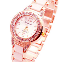 Relojes Mujer 2016 Fashion Watches Women Girls Beaded Bracelet Band Clock Woan Ladies Quarzt Wrist Watch