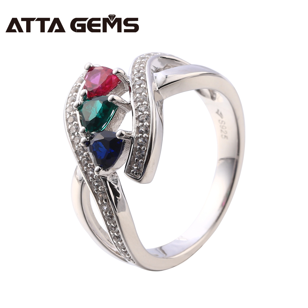 Fine Jewelry For Women Created Ruby Sapphire And Emerald Sterling Silver Ring S925 Wedding And Engagement Ring Jewelry Brand Fine Jewelry For Women Created Ruby Sapphire And Emerald Sterling Silver Ring S925 Wedding And Engagement Ring Jewelry Brand
