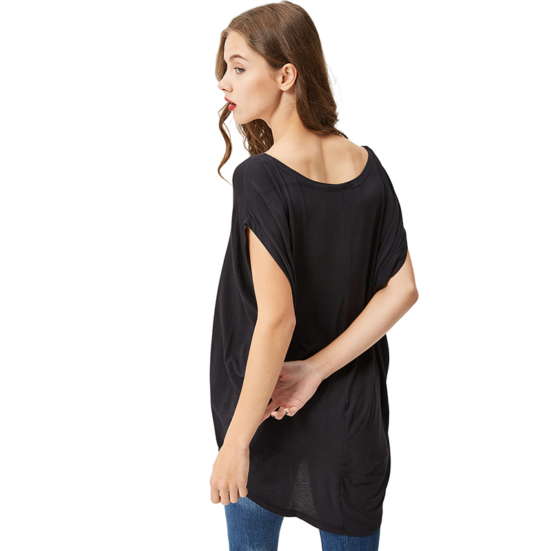 1522ee9683c GLO STORY Women s 2018 Summer Short Sleeve T shirt Woman Plus Size Sexy Off  the Shoulder Loose Tshirts Tops WPO 1667-in T-Shirts from Women s Clothing  on ...