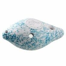 Мини 6 отверстий окарина керамический музыкальный инструмент синий D Тон речная Улитка милый подарок Лидер продаж детские развивающие игрушки