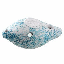 Mini 6 Hole Ocarina Ceramic Musical Instrument Blue D tone River Snail Cute Gift Present Hot Sale