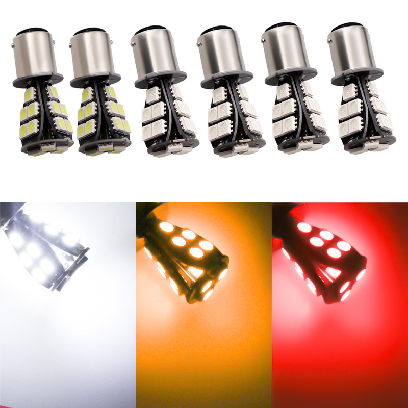 2 PCS 1156 BAU15S 18 SMD Amber Yellow CANBUS OBC Error Free <font><b>py21w</b></font> <font><b>LED</b></font> car <font><b>Bulbs</b></font> Lamp Turn Signal Lights Car Light Source DC 12V image