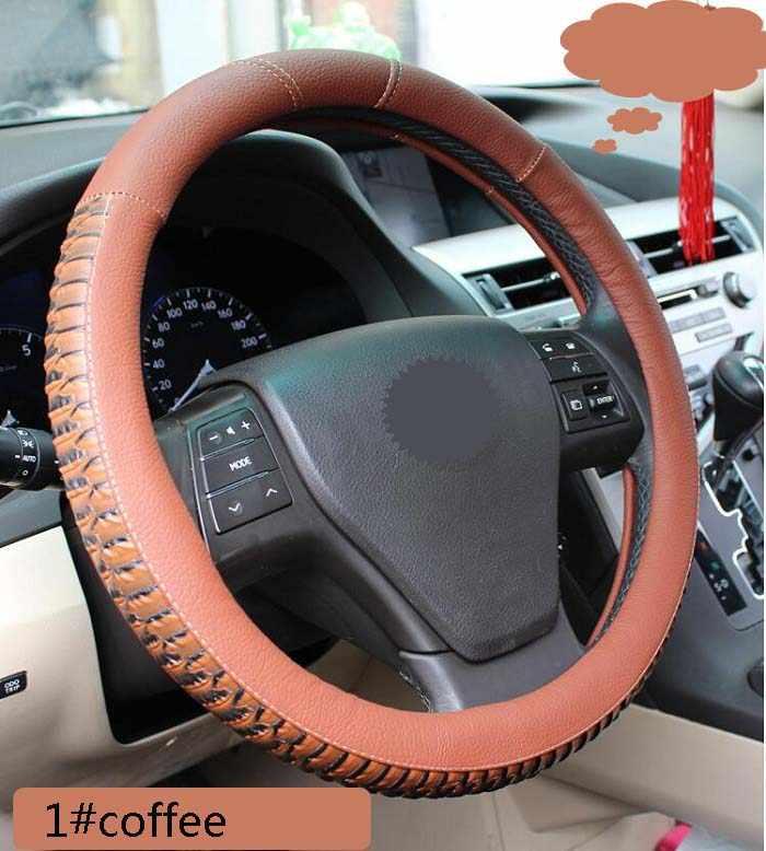 السيارات 38 سنتيمتر العالمي سيارة غطاء عجلة القيادة الديكور التزلج تنفس الأزياء الأفعى/النمر تصميم ستوكات جلدية