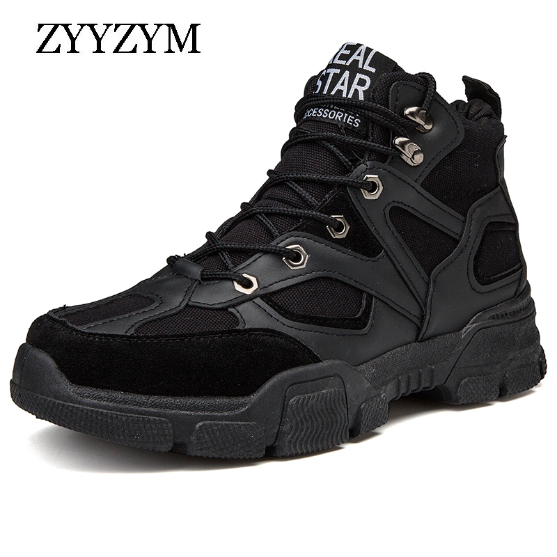 ZYYZYM Shoes Men Casual Shoes 2019 Spring Autumn High Style Fashion Sneakers Top Rubber Retro Youth Men Shoes in Men 39 s Casual Shoes from Shoes
