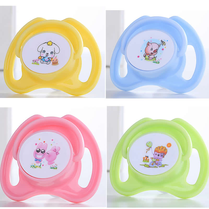 Baby Pacifier Butterfly-type Round Head Appease Nipple Pattern Printing Bite Music Safety Silicone Play Mouth Pacifier Nipple