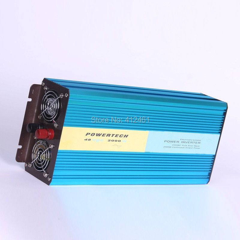 2000W Power Inverter Pure sine wave DC 12V TO AC 220V Car Auto Solar Power Converter   Peak Power 4000W