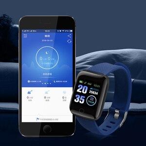 Image 3 - D13 inteligentny zegarek 116 Plus zegarek mierzący uderzenia serca nadgarstek zegarki sportowe inteligentny zespół ciśnienia krwi wodoodporny Smartwatch Android A2