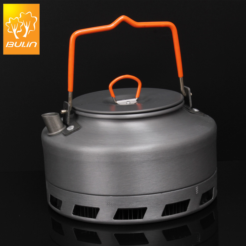 Bulin 1.1L Camping Kettle Heat Exchanger Tea Pot Picnic Kettle Aluminium Alloy