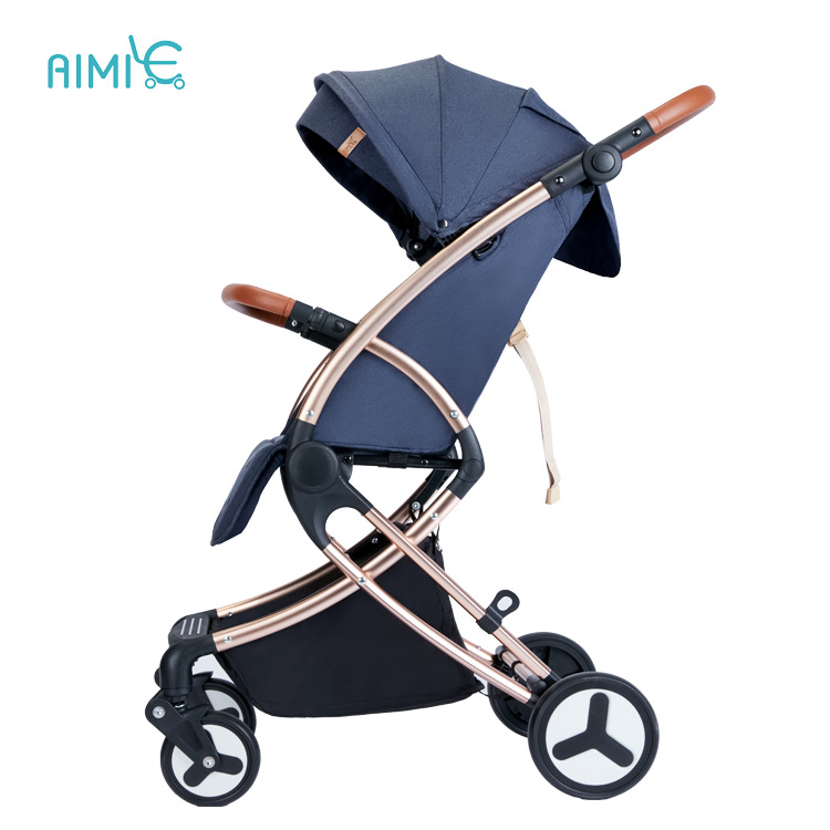 High Landscape Baby Stroller Light Stroller Can Sit Reclining Aluminum Alloy Frame Car Fold Portable  Newborn Carriage Free Ship