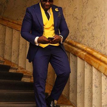 Latest Coat Pant Designs Purple Men Suit Stylish Men Party Tuxedo Slim Fit 3 Piece Custom Blazer Sets (Jacket+Pants+Vest)