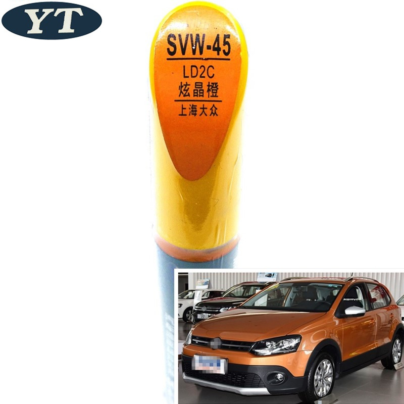 Car Scratch Repair Pen, Auto Painting Pen ORANGE Color For Volkswagen Polo Golf 6,7 Touran Passat Tiguan CC ,car Painting Pen