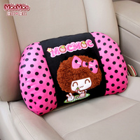 Lumbar support for office chair automobile back cushion support waist pillow black dot pink red women auto accessories