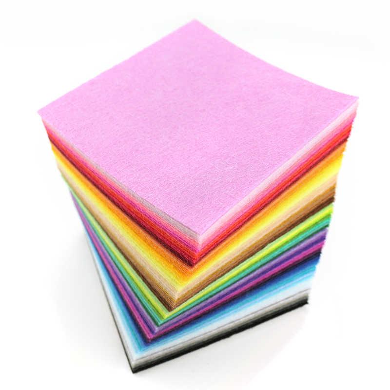 Смешанная 88 цветов Нетканая войлочная ткань DIY полиэфирная войлочная ткань с нитью DIY комплект для шитья ремесел 1 мм Толщина 10*10 см
