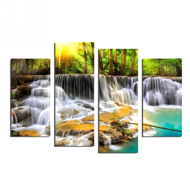 Landscape diy painting waterfall picture on wall hand painted oil landscape diy painting waterfall picture on wall hand painted oil painting on canvas for artwork ccuart Gallery