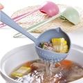 1 PCS Kreative 2 in 1 Löffel Sieb Lange Griff Suppe Löffel Nette Geschirr Kochen Kunststoff Pfannen Geschirr|Löffel|Heim und Garten -