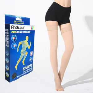 Image 2 - Findcool בגובה הברך גרבי דחיסה רפואית דליות גרב דחיסת Brace גלישת עיצוב עבור נשים גברים
