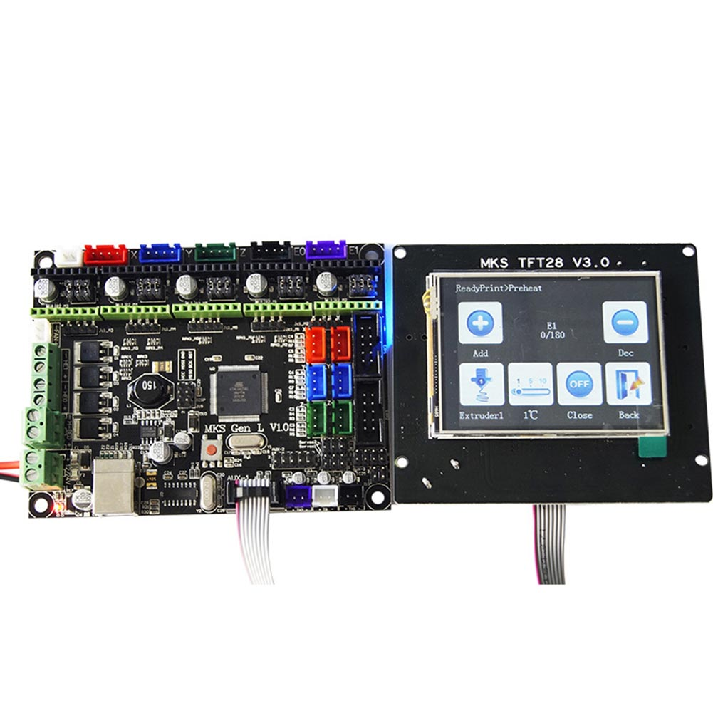 Nouvellement Pour MKS GEN L compatible avec TFT28 écran lcd Soutien TMC2208 Moteur Pilote 3D Kits D'impression