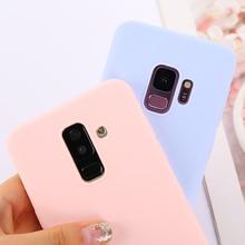 Яркая однотонная Цвет чехол для samsung Galaxy A50 A70 A40 A30 A20 A10 обратите внимание; размеры 9 и 10 S8 S9 S10E 5G J4 J6 плюс J8 A6 A7 чехол для телефона