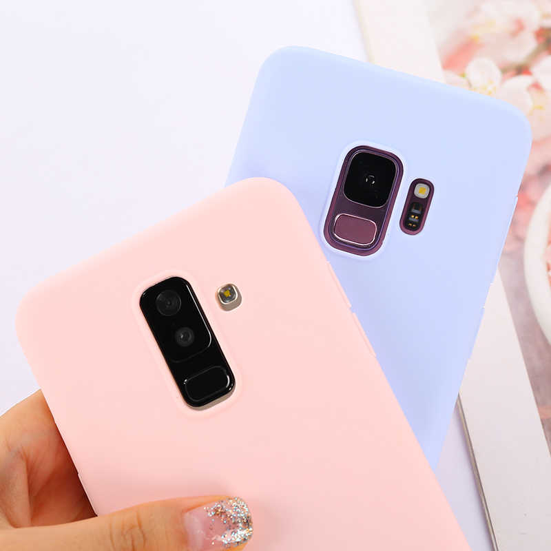 Candy Macaron Color Case For Samsung Galaxy A50 A70 A40 A30 A20 A10 A60 2019 S8 S9 S10 J4 J6 Plus J8 A6 A7 2018 Note 10 9 Cover
