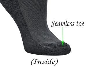 Image 4 - 4 пары, Женские бамбуковые носки до колена с бесшовным носком