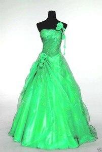 Image 5 - ANGELSBRIDEP כתף אחת Quinceanera שמלות 15 מפלגה סקסי עבודת יד פרח מקיר לקיר באורך טול 16 Vestido נשף מתוק שמלת