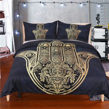 ship from us hamsa hand duvet cover with pillowcase 3pcs