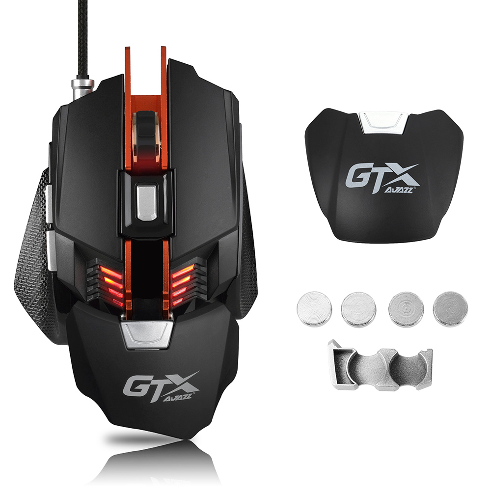 Mechanical Wired Gaming Mouse Programmable 4000DPI 7 Button USB LED Optical Mice