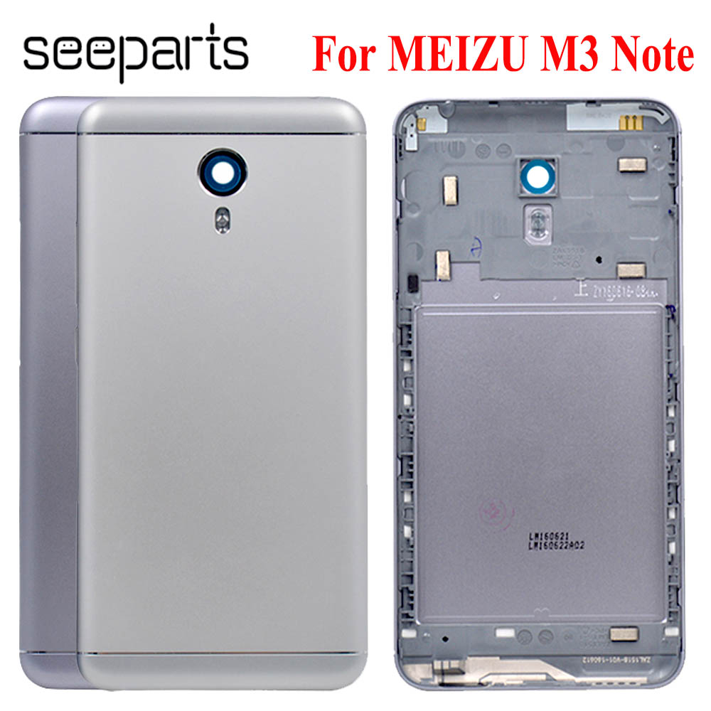 Meizu M3 Note Battery Cover Back Battery Cover Door Housing Case For Meizu M681h Battery Cover Replacement Parts For Meizu L681h