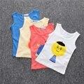 2016 Cabritos de La Manera Bobo Choses Tímidos Cara de Impresión de Algodón de Manga Corta T-shirt Muchachas de Los Bebés Niños Ropa de Verano Estilo YA025