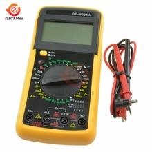 DT9205A ручной ЖК-дисплей цифровой мультиметр электрический Вольтметр Амперметр Тесты er сопротивление постоянной ёмкости, универсальный конденсатор Амперметр hFE AC/DC Тесты зонд