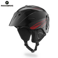ROCKBROS Ski Helmet Integrally Molded Skiing Helmets Safety Protect Adult Kids Thermal Ultralight Snowboard Skateboard Head
